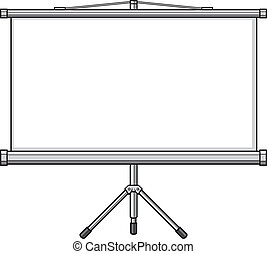 pantalla, proyector