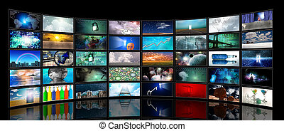 pantallas, medios