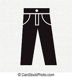 pantalones, icono