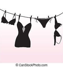 Pantie, sostén y lencería