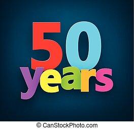 papel, años, signo., cincuenta