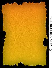Papel amarillo sobre negro