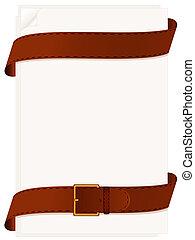 papel, cinturón