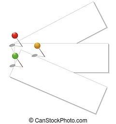 Papel con clip, vector eps10 ilustración