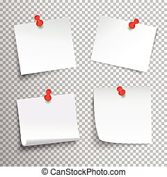 papel, conjunto, fijado