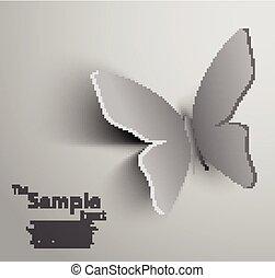 Papel cortado mariposa
