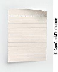 papel, cuaderno, rayado