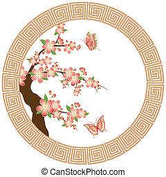 Papel de cerezo oriental