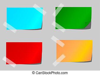 Papel de color con cinta adhesiva