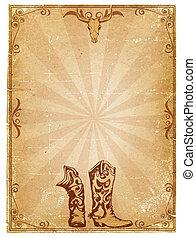 Papel de vaqueros para texto con marco de decoración.