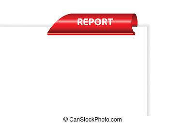 Papel en blanco vector con clip rojo