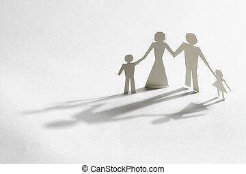 papel, familia