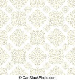 Papel floral de azulejo beige