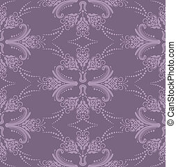 Papel floral púrpura de lujo