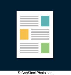 Papel icono de la red social documentación azul