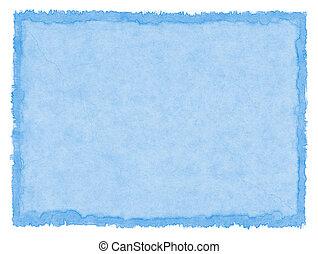 Papel manchado azul