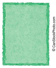 Papel manchado de verde