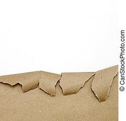 Papel marrón en blanco
