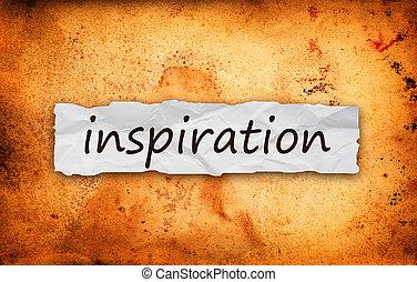 papel, pedazo, título, inspiración