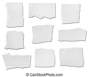 papel, plano de fondo, blanco, rasgado, mensaje