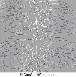 Papel plateado de papel. Vector
