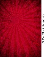 Papel rojo y sucio con un rayo de luz