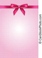 Papel rosa con arco y encaje