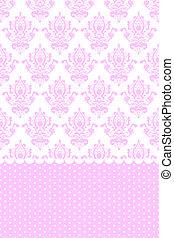 Papel rosa y blanco