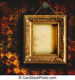 Papel tapiz con marco vacío