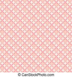 Papel tapiz geométrico floral abstracto. Ilustración de vectores para el diseño femenino romántico. Color rosa pastel. Antecedentes sin daños.