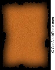 Papel viejo naranja sobre negro