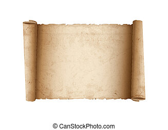 Papel viejo pergamino horizontal