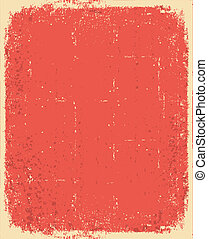 Papel viejo. textura grunge roja vector para texto