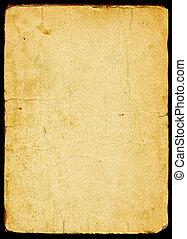 papel, viejo, textured