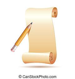 Papel y bolígrafo