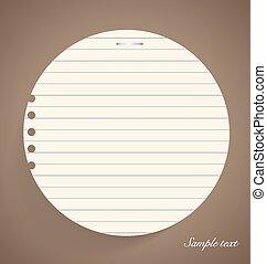 Papeles de notas, listos para su mensaje. Ilustración de vectores.