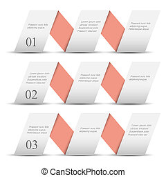 Papeles origami blancos numerados