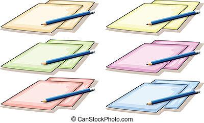 Papeles y lápiz