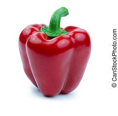 Paprika roja aislada en un blanco