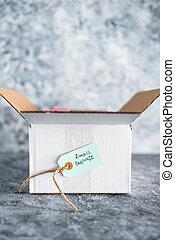 paquete, secundario, en línea, cliente, ellos, entrega, pequeño, entreprises, órdenes, comportamiento, empresa / negocio, etiqueta
