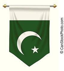 paquistán, banderín