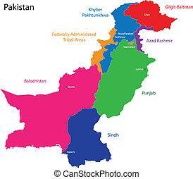 paquistán, mapa