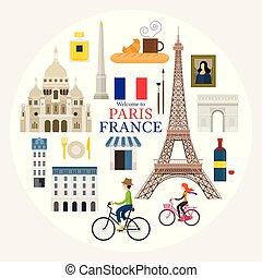 París, Francia y su sello de viaje
