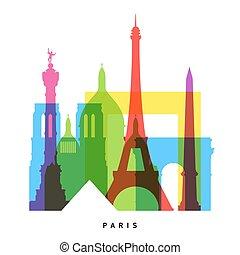 París marca collage brillante