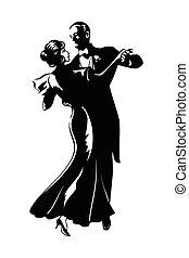 par, bailando