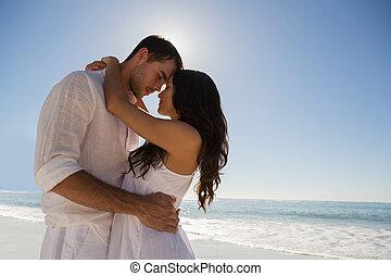par romántico, se abrazar