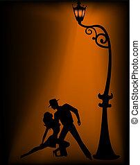 par, tango, bailando