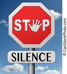 Para el silencio