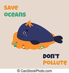 Para la contaminación de la ballena triste