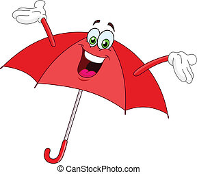 paraguas, caricatura
